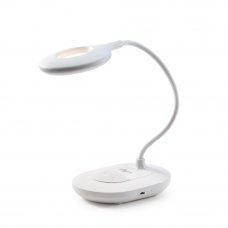 FORZA Лампа настольная, аккум. 1200мАч, питание кабель USB 1М, 16LED, 950Lux, белая, пластик