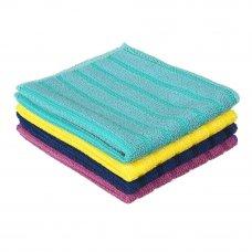VETTA Набор салфеток из микрофибры для сильных загрязнений, 2шт, 25х30см, 300г/кв.м, 4 цвета