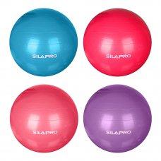 SILAPRO Мяч для фитнеса гимнастический, ПВХ, d85см, 1000гр, 6 цветов, в коробке