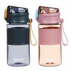 SILAPRO Бутылка спортивная для воды с силиконовым поильником 18,5x8,5см, 500мл, PC, силикон, 2 цвета
