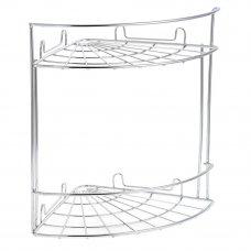 ARTEX Полка настенная угловая двухъярусная Slim арт.27 10 38