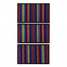 VETTA Коврик придверный, ворсовый с резиновой каймой, 50x80см, 3 дизайна