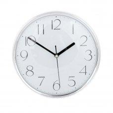 "LADECOR CHRONO Часы настенные ""Металлик"", пластик, 25см, 1хАА, серебро"